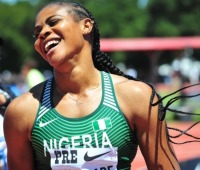 Nigerian sprinter Blessing Okagbare surpasses Usain Bolts Guiness World Record